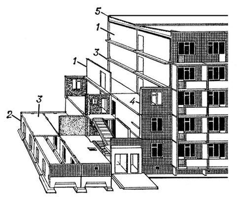 Схема крупнопанельного жилого
