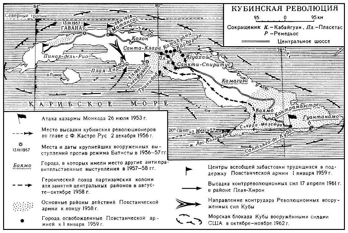 Карта кубинской революции