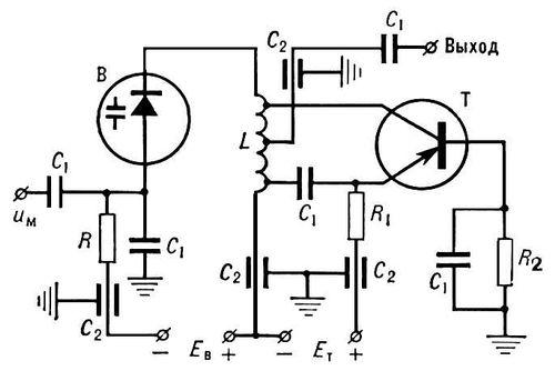 Модулятор варикапный частотный
